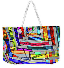 Museum Atrium Art Abstract Weekender Tote Bag by Stuart Litoff