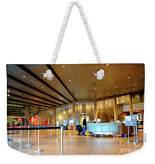 Weekender Tote Bag featuring the photograph Museum Of Glass Interior by Chris Anderson