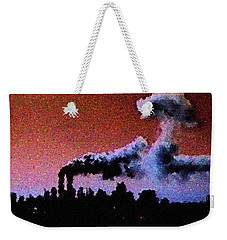 Mushroom Cloud From Flight 175 Weekender Tote Bag
