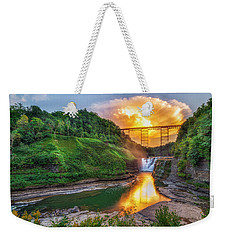 Weekender Tote Bag featuring the photograph Mushroom Cloud Over Upper Falls by Mark Papke