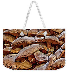 Weekender Tote Bag featuring the photograph Mushroom Colony by Bill Gallagher