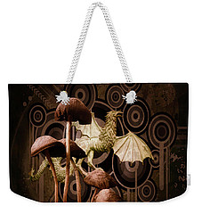 Weekender Tote Bag featuring the digital art Mushroom Dragon by Richard Ricci