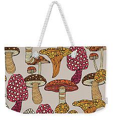 Mushroom Pattern Weekender Tote Bag