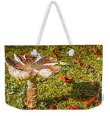 Mushroom Upclose Weekender Tote Bag by Judi Saunders