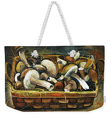 Mushrooms Weekender Tote Bag by Mikhail Zarovny