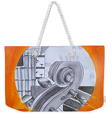 Weekender Tote Bag featuring the painting Music 3 by Maria Langgle