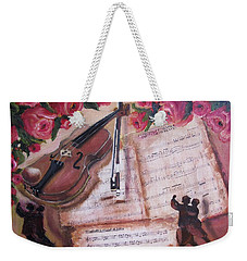 Music And Roses Weekender Tote Bag
