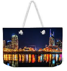 Music City Skyline Weekender Tote Bag