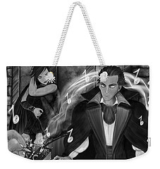 Music Is Magic - Black And White Fantasy Art Weekender Tote Bag