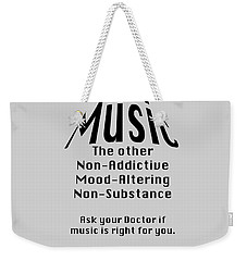 Music Is Right For You 5502.02 Weekender Tote Bag