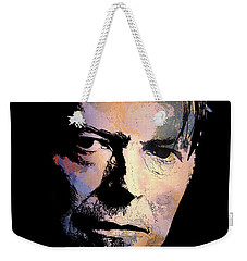 Weekender Tote Bag featuring the painting Music Legend 2 by Andrzej Szczerski