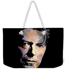 Weekender Tote Bag featuring the painting Music Legend. by Andrzej Szczerski