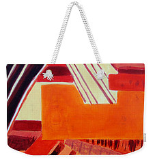 Weekender Tote Bag featuring the painting Music by Maria Langgle