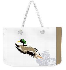 Weekender Tote Bag featuring the digital art Music Notes 22 by David Bridburg