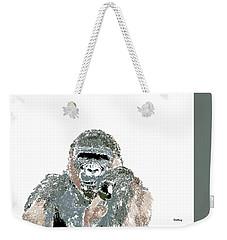 Weekender Tote Bag featuring the digital art Music Notes 23 by David Bridburg