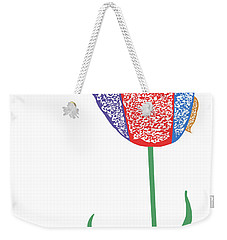Weekender Tote Bag featuring the digital art Music Notes 3 by David Bridburg