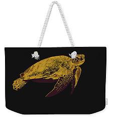 Weekender Tote Bag featuring the digital art Music Notes 30 by David Bridburg