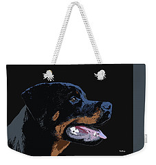 Weekender Tote Bag featuring the digital art Music Notes 34 by David Bridburg