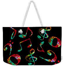 Music Notes Weekender Tote Bag by John Stuart Webbstock