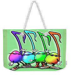 Music Notes Party Weekender Tote Bag by Kevin Middleton