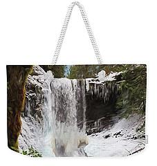 Weekender Tote Bag featuring the photograph Music Of Nature - Waterfall Art by Jordan Blackstone