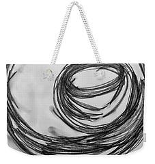 Music Sketch Study Leon Bridges Weekender Tote Bag by Brenda Pressnall