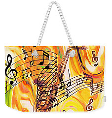 Music Was My First Love Weekender Tote Bag
