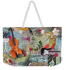 Musical Garden Collage Weekender Tote Bag