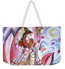 Musical Goddess Saraswati - Healing Art Weekender Tote Bag