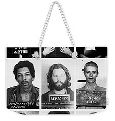 Musical Mug Shots Three Legends Very Large Original Photo 9 Weekender Tote Bag