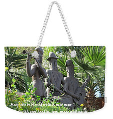 Weekender Tote Bag featuring the photograph Musicians Rosh Hashanah by Linda Feinberg