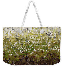 Weekender Tote Bag featuring the painting Musing by Carmen Guedez