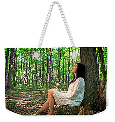 Weekender Tote Bag featuring the photograph Musing.. by Nina Stavlund