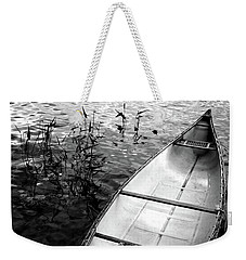 Weekender Tote Bag featuring the photograph Muskoka Canoe by Jim Vance