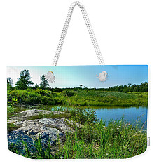 Weekender Tote Bag featuring the photograph Muskoka Ontario 4 by Claire Bull