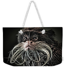Mustache Monkey IIi Altered Weekender Tote Bag