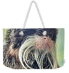 Mustache Monkey Watching His Friends At Play Weekender Tote Bag