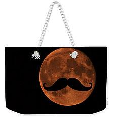 Mustache Moon Weekender Tote Bag