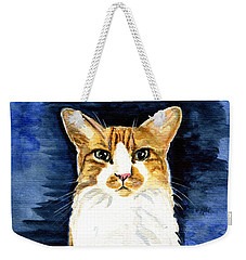 Mustached Bicolor Beauty - Cat Portrait Weekender Tote Bag