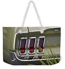 Mustang Fastback In Green Weekender Tote Bag