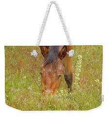 Mustang In The Grass Weekender Tote Bag