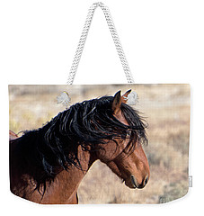 Weekender Tote Bag featuring the photograph Mustang by Lula Adams
