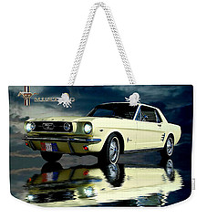 Weekender Tote Bag featuring the photograph Mustang by Steven Agius