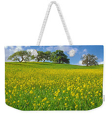 Weekender Tote Bag featuring the photograph Mustard Field by Mark Greenberg