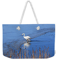 Mute Swan Climbs On The Ice Weekender Tote Bag