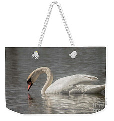 Weekender Tote Bag featuring the photograph Mute Swan by David Bearden