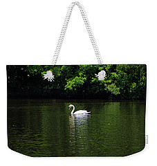 Weekender Tote Bag featuring the photograph Mute Swan by Sandy Keeton