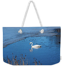 Mute Swan Swimming Weekender Tote Bag