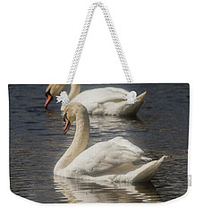 Weekender Tote Bag featuring the photograph Mute Swans by David Bearden