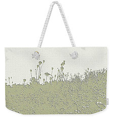 Muted Green Dandelions Weekender Tote Bag by Ellen O'Reilly